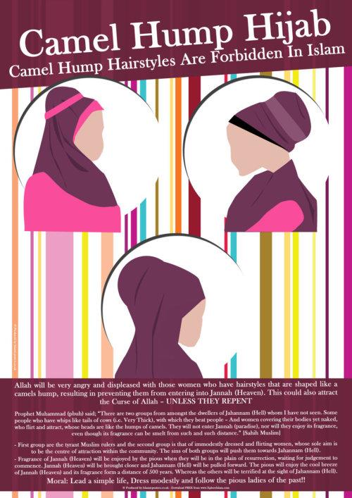 hijab punuk onta