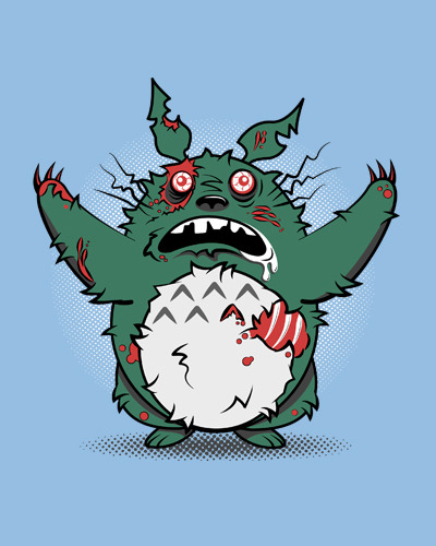 My Undead Totoro by Matthew Parsons Shirt available at redbubble for $27.61 USD. Artist: twitter / deviantart / facebook (via Matthew's tumblr: fanboy30)