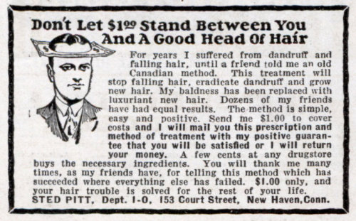 Don't let $1.99 stand between you and a good head of har<br /> devilduck:</p> <p>…a friend told me of an old Canadian method<br /> From 1931.<br />