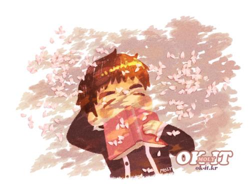 okitok:</p> <p>in Junsuya mini calender / cherry blossoms and Junsu (SPRING)<br />
