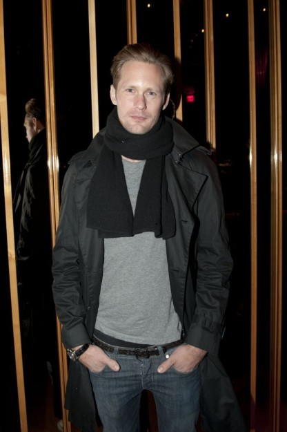 """<br /><br /><br /> Hold the phone, everyone just lost their shit. It's Alexander Skarsgard. Let's see if we can peel him away from the lunch line of twiggy models, shall we?<br /><br /><br /> """"So Alex, we'd like to ask you one question, would that be alright?""""<br /><br /><br /> """"Of course my friend, anything!"""" he beams.<br /><br /><br /> """"How did Alexander Skarsgaard get here?""""<br /><br /><br /> """"Oh man, I really like this question! It would be so easy for me to say """"The elevator""""""""<br /><br /><br /> We agreed<br /><br /><br /> """"But look, I see that this is one of those really open ended  questions, and I like that! So many things brought me here, but first it  began with my mother and my father. I owe them everything. Oh, also I  really like The Kills!""""<br /><br /><br /> We continued our chat on The Kills briefly till the nicest vampire  we've ever met announced he had to pee, so we took the talk to the famed  urinals of The Standard.<br /><br /><br /> """"So tell me this my friend from The Observer, how did you get here?"""" as we both unzip our jeans.<br /><br /><br /> For the next few minutes Skarsgaard did the interviewing, and  concluded (completely mistakenly) that we too would be able to be as  lucky with the ladies as he is. We informed him, that we were flattered  but that the two of us were definitely a few standard deviations apart. .<br /><br /><br /> It crossed our minds as we zipped our flies and washed our hands that  if there was ever a guy you'd want as a life coach, this is that guy.</p><br /><br /> <p>http://www.observer.com/2012/02/fashion-week-soldiers-on-and-we-take-a-leak-with-alex-skarsgard/"""