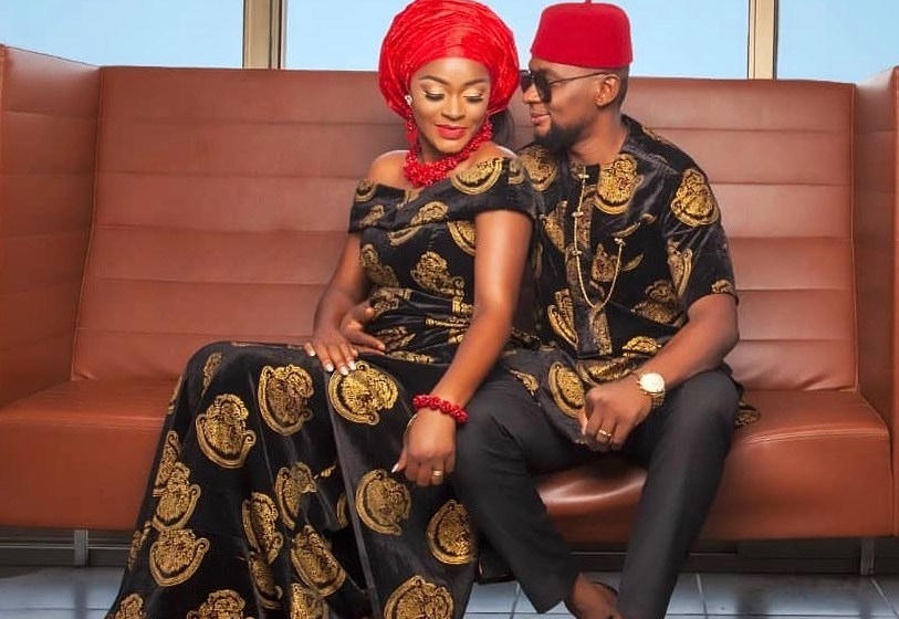 Cha-cha Eke shares photo of her and her husband together, fans react.