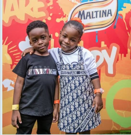 Tiwa Savage @41: Singer receives adorable treatment from her son Jamil and Davido's daughter, Imade.
