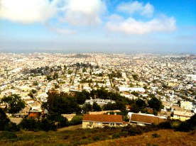 View of SFO from the twin peaks