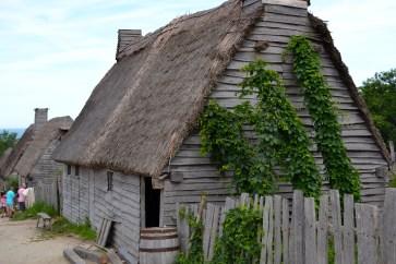 Pilgrim village huts