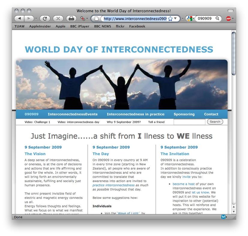 Interconnectedness 090909 website
