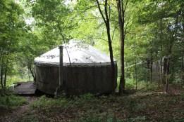 a lovely little yurt