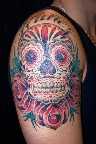 Mexican Skull Tattoo Design, originally uploaded by WyoHDRider
