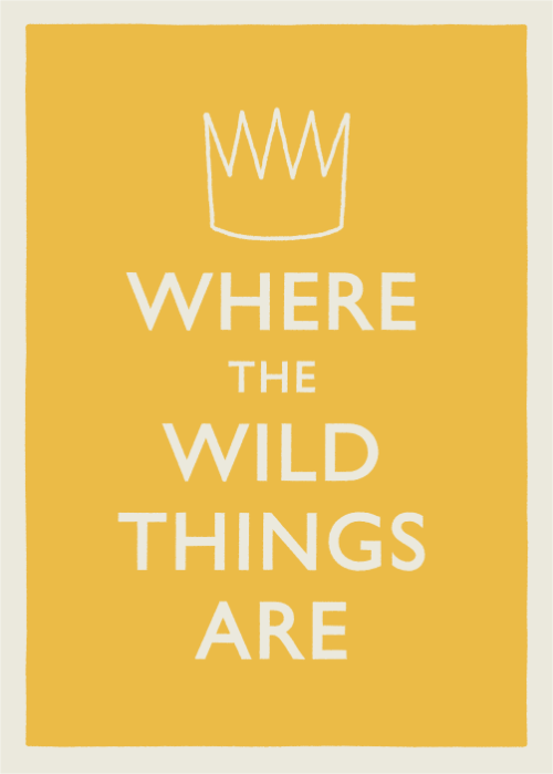 Where The Wild Things Are opens tomorrow in North America, I'm jealous because I have to wait another month but I made this poster anyway! (If you don't get the reference, go here)