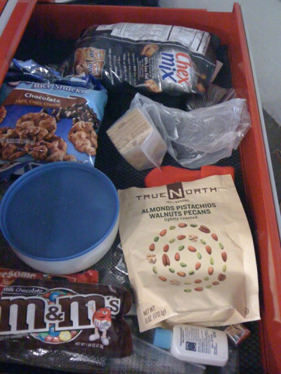By looking at my snack drawer at work you'd think my New Years resolution would be to eat MORE junk food…. Ugh.