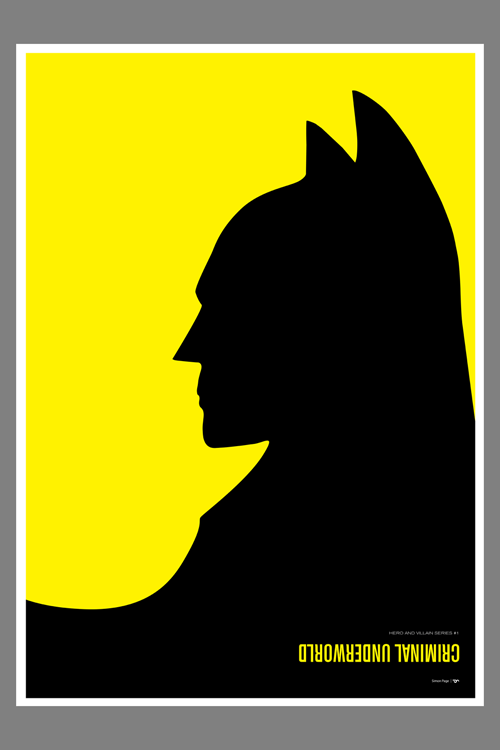 "Batman vs. Penguin Batman vs. Penguin (Criminal Underworld) - from the Hero and Villain series. Printed on museum-quality, 100% cotton rag, Canson Rag Photographique 310 GSM paper with Epson UltraChrome HDR inks. Custom 1"" border on all prints. Click image for sizes and more details."