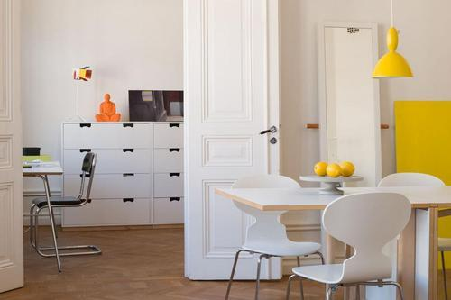 Photo by Swedish photographer Per Ranung. Yellow Mhy pendant lamp by Norway Says for Muuto.