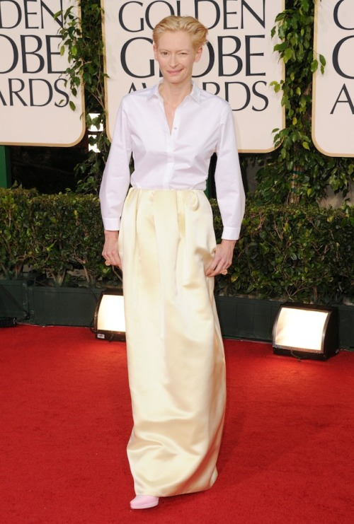Tild Swinton, I know you like androgyny and all but really? You should just wear a suit!