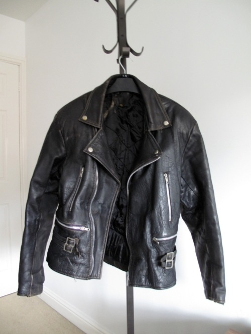 pales:  my new leather jacket, the only thing i will ever love