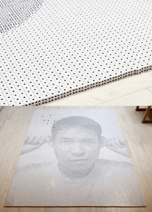 Frederick McSwain used 13,138 dice to create this portrait