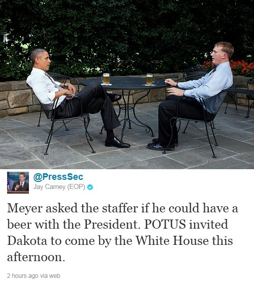 "This x That: Know This: Above: 21-year-old Marine corporal Dakota Meyer, who is set to receive the Medal of Honor tomorrow, had one request for the staffer who called him in preparation for tomorrow's ceremony: To arrange for him to have a beer with the President. President Obama's 2012 campaign team launches anti-smear site called Attack Watch. RIP: John Calley, noted Hollywood exec and producer of many well-known films, dead at 81. Read This: Academics offer $11,000 for proof that a girl actually suffered mental retardation as a result of an HPV vaccine, as Michele Bachmann claims. Follow Up: Girl who beat up transgender woman at Rosedale McDonald's receives five-year sentence. Justice Ruth Bader Ginsburg forced to slide down emergency chute after evacuation ordered on her United Airlines flight. JK Rowling set to give evidence at phone-hacking inquiry. Jonah Hill describes Brad Pitt as ""the Bobby Fischer of pranks."" White House crasher Tareq Salahi thought his wife Michaele had been kidnapped, but it turns out she just ran away with Neal Schon from Journey. Whoops! The Other: NewsFeed: Shirley the Smoking Orangutan Forced to Kick Her Habit. Tea x Time List: 10 Famous Elephants and Their Bizarre Deaths."