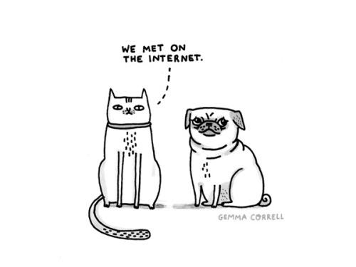 we met on the internet