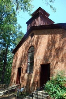 Church just off Natchez Trace Parkway