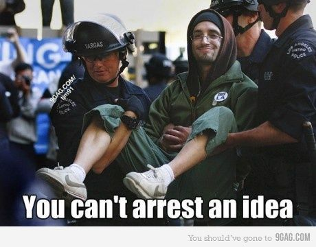 You can't arrest an idea