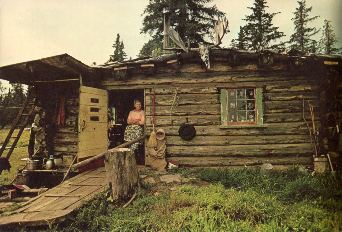 Log cabin in rural Nebraska, 1974.<br /><br /><br /><br /> Via Emma Brooke.Photographer unknown.