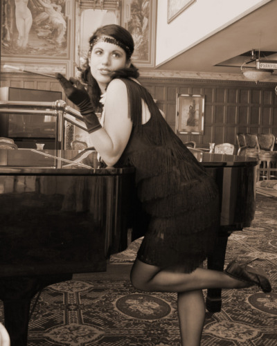 1920's  flapper girl by ~marsattack Photo i took of my friend modeling as a flapper girl
