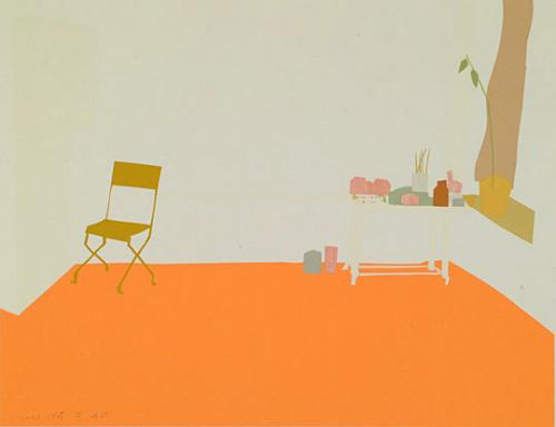 Orange Interior(1968) by Alex Katz