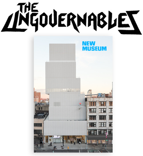 Our logo for the upcoming Generational Show at the New Museum: The Ungovernables