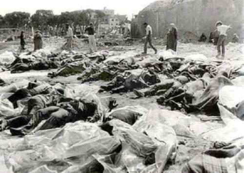 "thepalestineyoudontknow:</p> <p>Remembering The 54th Anniversary Of The Israeli Massacre In Kafr Qasim</p> <p>On October 29, 1956, during the Suez Crisis, Israeli Border Police started at 4 pm what they called a tour in Kafr Qasim town (also known as Kafr Qassem, Kufur Kassem and Kafar Kassem). They told the Mukhtars (Aldermen) of the town that the curfew from that day onwards was to start from 5 pm until 6 am next morning. They reached Kafr Qasem around 4:45 pm and informed the Mukhtar who protested that there are about 400 villagers working outside the town and there is no enough time to inform them of the curfew timings. An officer assured him that they will be taken care of.<br /> The guards waited at the entrance to the town. 43 Kafr Qasem inhabitants were massacred in cold blood by the army as they returned from work . Their crime was violating a curfew they did not know about. On the northern entrance of the town 3 were killed and 2 were killed inside of the town. Amongst the dead were men, women, and children. Lutanat Danhan was touring the area in his jeep reporting the massacre, on his wireless he said ""minus 15 Arabs"" after a while his message on the radio to his H.Q. was ""it is difficult to count.""(X)<br /> we will NEVER forget.. will NEVER forgive !"