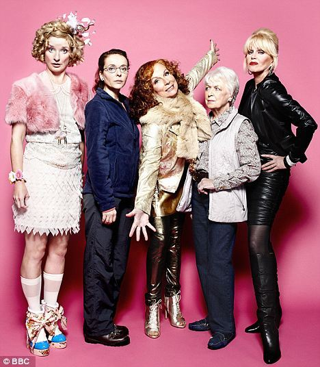 Jane Horrocks, Julia Sawalha, Jennifer Saunders, June Whitfield and Joanna Lumley (I only just noticed that all their names begin with J)