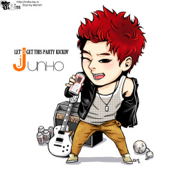 Let's get this party kickin': Junho