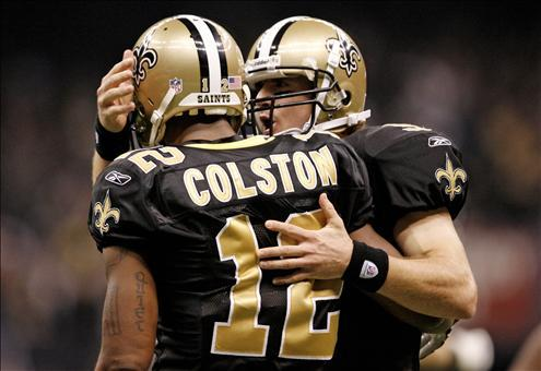 Brees and the reliable Marques Colston