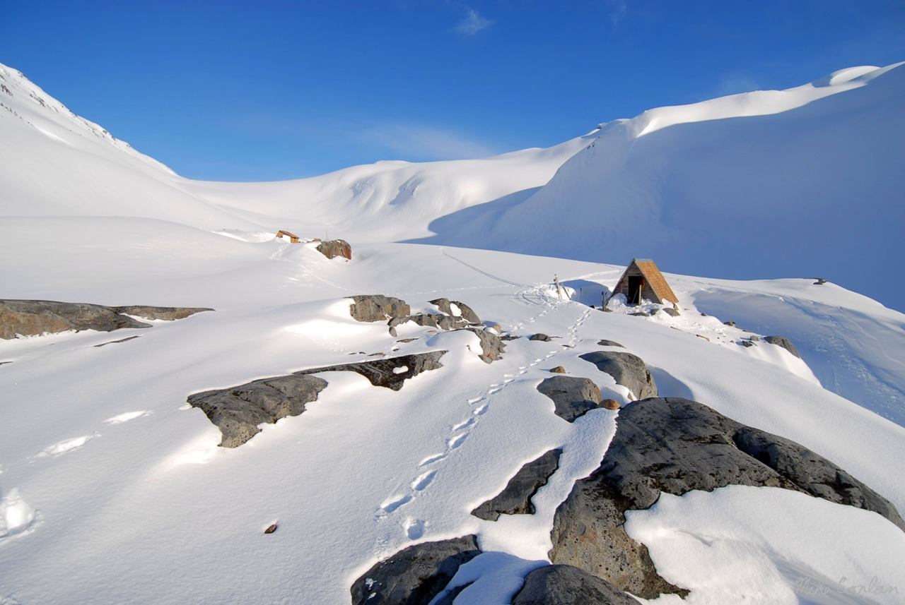 Glaciology cabin near Sentinel Glacier, British Columbia, Canada.<br /><br /><br /><br /> Submitted and photographed by Mike Conlan.