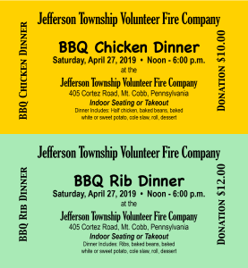 Chicken & Rib BBQ @ Jefferson Township Fire Company | Mount Cobb | Pennsylvania | United States