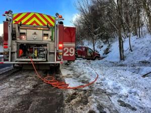 Pickup Truck Passenger Confined in Afternoon Interstate Crash