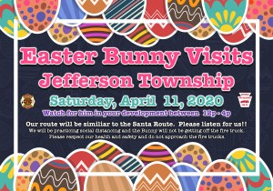 Jefferson Township Easter Bunny Tour Scheduled