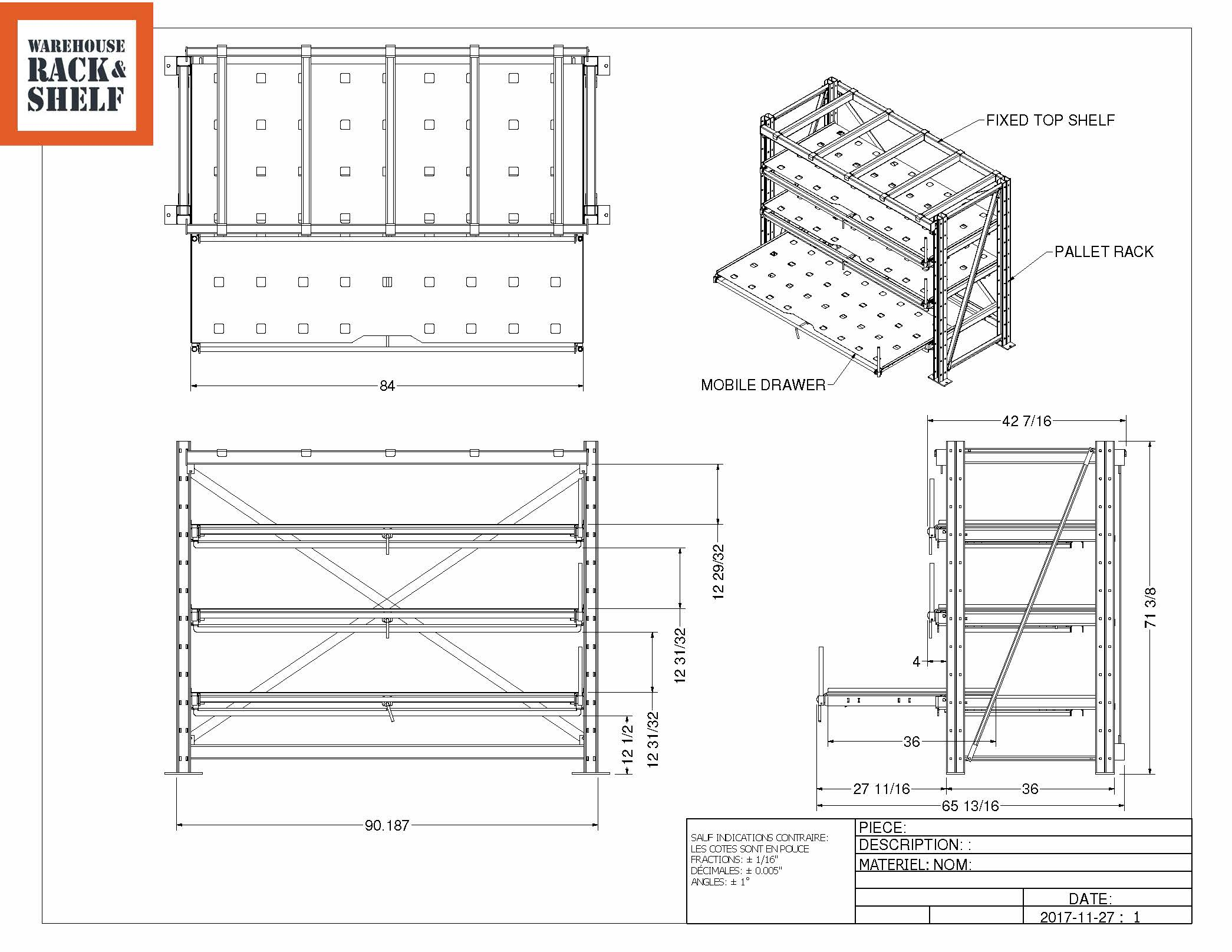 Industrial Roll Out Shelving