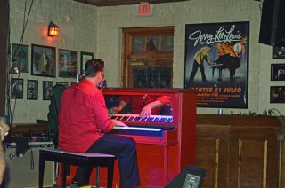 Jason James channeling Jerry Lee Lewis