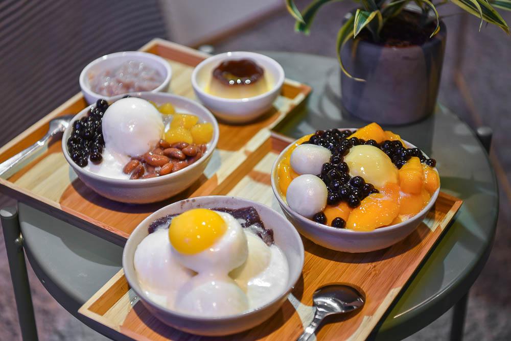 谷品冰舖:台中大里區美食-專賣古早味清冰的時尚冰店,好吃又好拍,內用免費續一次冰