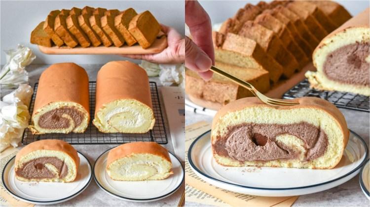逆光記憶手作甜點:新竹宅配美食-生乳捲伴手禮推薦!口感輕盈濕潤的蛋糕捲,推薦必買生巧克力口味,適合當下午茶點心及彌月蛋糕!