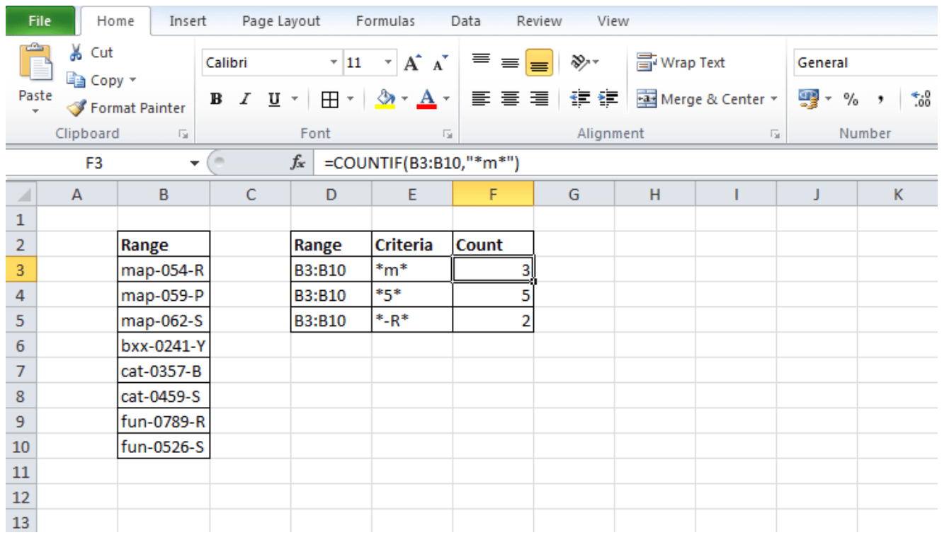 How To Count Cells With Specific Text In Excel