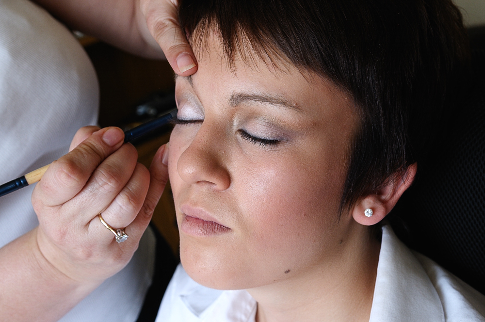 Eyeliner being applied