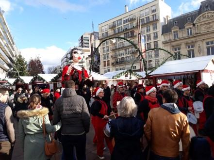 La fanfare anime le Marché de Noël