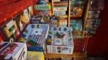 Vente de jeux de société sur le marché de Noël de Nantes