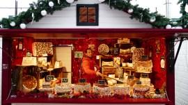 Chalet à nougat sur le marché de Noël du Mans