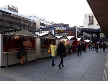 Les allées du Marché de Noël de Rennes