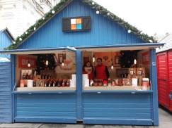 Chalet de spécialités angevines sur le Marché de Noël d'Angers