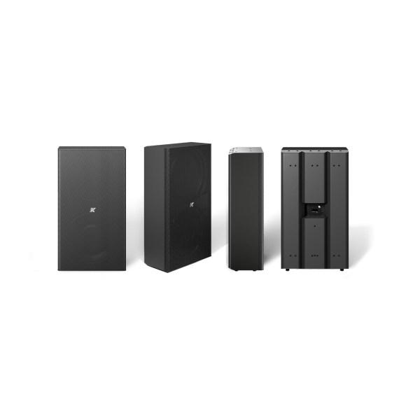 K-array Domino KF210 full-range speaker stainless steel compact speaker black