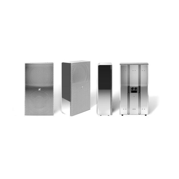K-array Domino KF210 full-range speaker stainless steel compact speaker silver