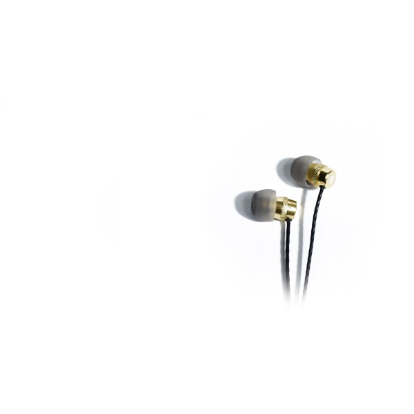 K-Array Duetto KD6T Gold earphones aluminium earphones close up of ear buds