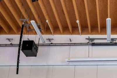 K-array line array speaker installation